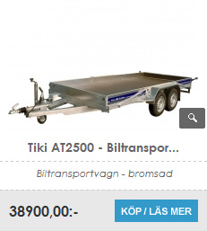 Biltrailer Tiki AT 2500